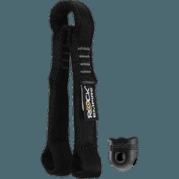 Lanyard Y PA 25 mm Ferrata - 15 cm černá 008