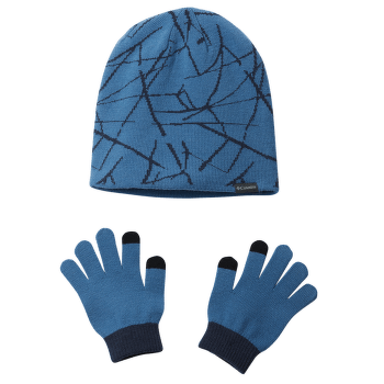 Youth Hat And Glove Set™ II Super Blue Print 438