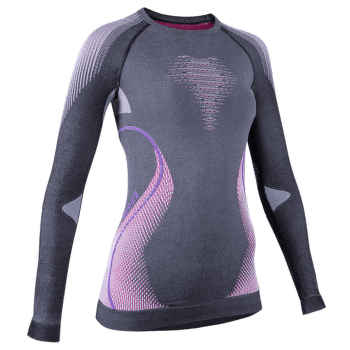 Evolutyon UW Shirt LS Lady Melange Anthracite Melange/Raspberry/Purple