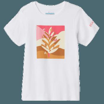 Bessie Butte SS Graphic Tee Girls White Planted H 100