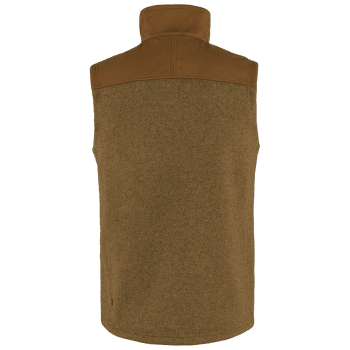 Buck Fleece Vest Men Chestnut