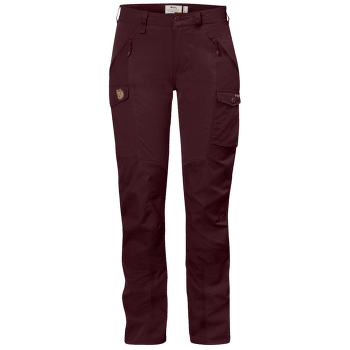 Nikka Curved Pants Women Dark Garnet