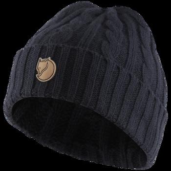 Braided Knit Hat Navy