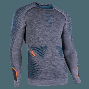 Ambityon UW Shirt LS Melange Men Black Melange/Atlantic/Orange Shiny