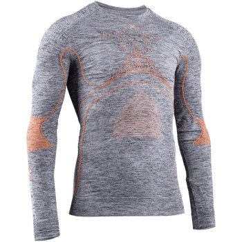 Energy Accumulator 4.0 Melange Shirt Round Neck Men Grey Melange/Orange