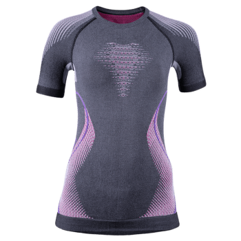 Evolutyon UW Shirt Melange Women Anthracite Melange/Raspberry/Purple
