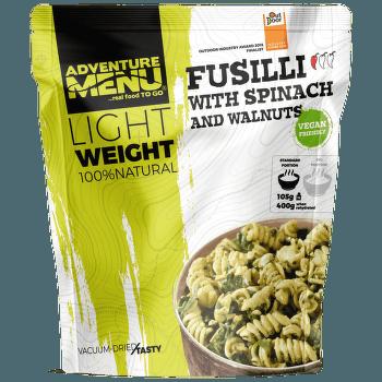 Lightweight Fusilli se špenátem a vlašskými ořechy