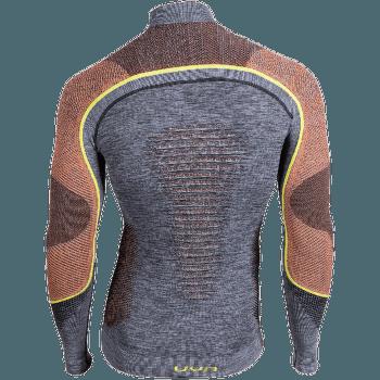Ambityon UW Shirt LS Melange Turtleneck Men Black Melange/Orange/Yellow