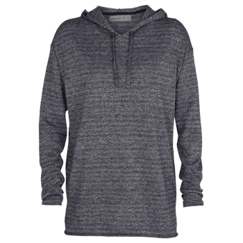 Flaxen LS Hooded Pullover Sweater Women Midnight Navy Hthr