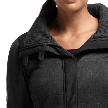Chelsea LS Zip Hood Women Jet HTHR/Black
