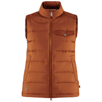 Greenland Down Liner Vest Women Autumn Leaf