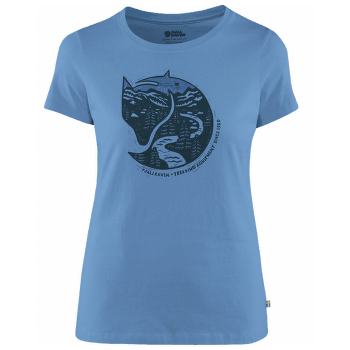Arctic Fox Print T-Shirt Women River Blue