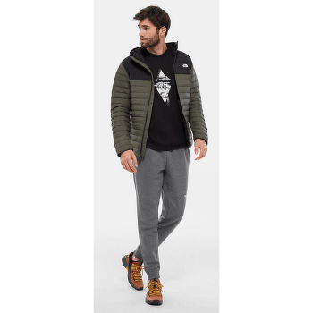 Stretch Down Hoodie Men NEW TAUPE GREEN/TNF BLACK