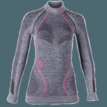 Ambityon UW Shirt LS Melange Turtleneck Women Black Melange/Purple/Raspberry