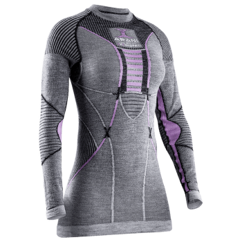 APANI® 4.0 Merino Shirt Round Neck Women Black/Grey/Pink