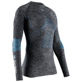 Energy Accumulator 4.0 Melange Shirt Round Neck Women DARK GREY MELANGE/WATER GREEN