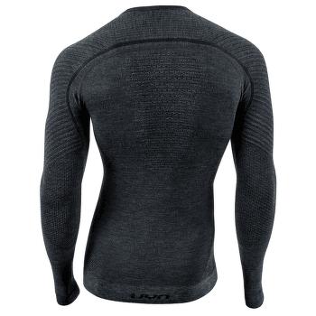 Fusyon Cashmere UW Shirt LS Men Grey Rock/Black