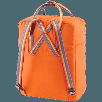 Kanken Rainbow Burnt Orange-Rainbow Pattern
