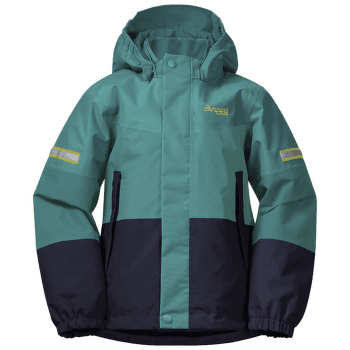Lilletind Insulated Jacket Kids Green lake/Navy/Waxed Yellow