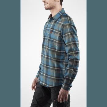 Fjallglim Shirt Men Arctic Green-Navy