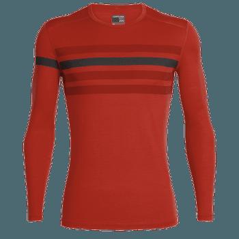 Oasis LS Crewe Heritage Stripe Men CHILI RED