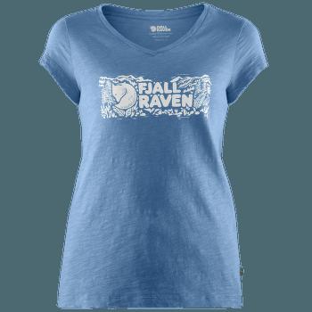 Logo Stamp T-Shirt Women River Blue