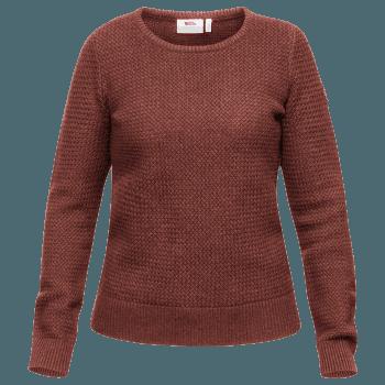 Övik Structure Sweater Women Terracotta Pink