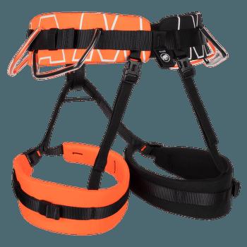 4 Slide Harness vibrant orange-black 2238