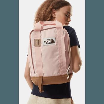 Tote Pack Evening Sand Pink Dark Heather-Utility Brown-Vintage White