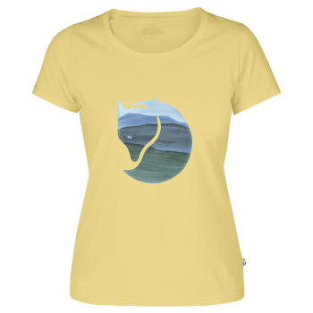 Watercolour Fox T-shirt Women Pale Yellow