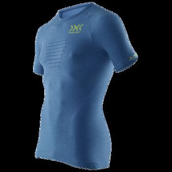 Speed Evo Melange Running Shirt Men Blue Melange