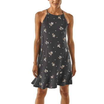 Alpine Valley Dress Women Wattleseed: Ink Black