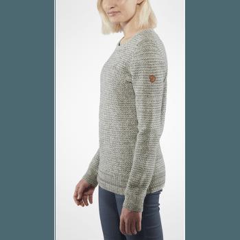 Övik Structure Sweater Women Egg Shell-Grey