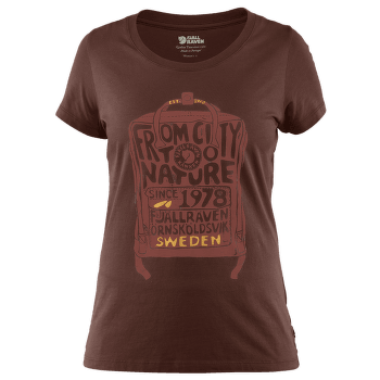 Kanken T-Shirt Women Marron