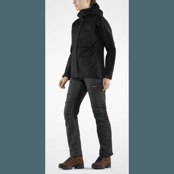 Kaipak Trousers Curved Women Dark Grey-Black