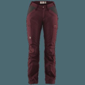 Kaipak Trousers Curved Women Dark Garnet-Dark Grey