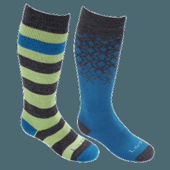 Merino Kids Ski 2 Pack - S2KN BLUE/ACID YELLOW