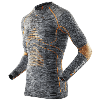 Accumulator Evo Melange Shirt Round Neck Grey Melange/Orange