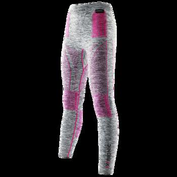 Energy Accumulator EVO Melange Long Pants Women Light Grey Melange/Raspberry
