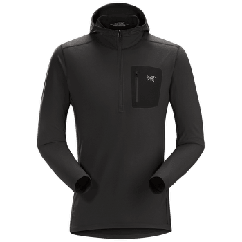 Rho LT Hooded Zip Neck Men Black