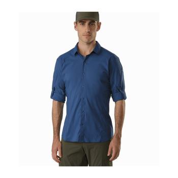Elaho LS Shirt Men Cobalt Moon