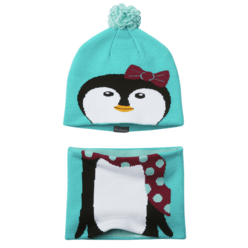 Youth Snow More™ Hat And Gaiter Set Geyser Penguin 336