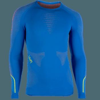 Ambityon UW Shirt LS Men Fresh Blue/Orange Shiny/Yellow Shiny