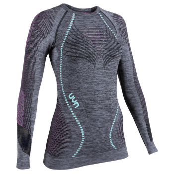 Ambityon UW Shirt LS Melange Women Black Melange/Pink/Aqua