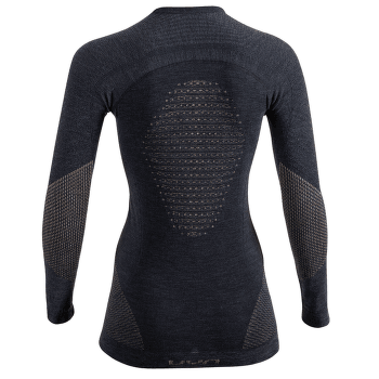 Fusyon Cashmere UW Shirt LS Women Grey Stone/Copper