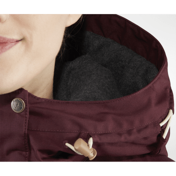 Singi Wool Parka Women Dark Garnet