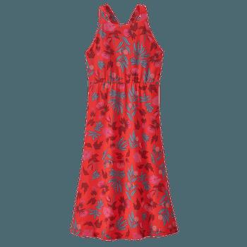 Magnolia Spring Dress Fiber Flora Multi Big: Catalan Coral