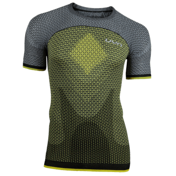 Running Alpha OW Shirt SS Men Tonic Yellow/Sleet Grey