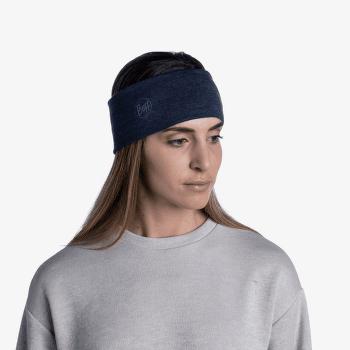 2 L Midweight Merino Wool Headband Solid Black SOLID DEEP PURPLE