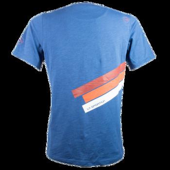 Stripe Logo T-Shirt Men Dark Sea